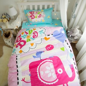 Комплект постельного белья Слон и птица (полуторный) (код товара: 45061): купить в Berni
