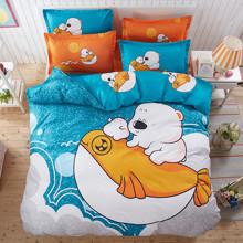 Комплект постельного белья Арктические друзья (полуторный) (код товара: 45113)