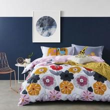 Комплект постельного белья Цветы и животные (двуспальный-евро) (код товара: 45133)