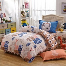Комплект постельного белья Розовый олень (двуспальный-евро) (код товара: 45120)