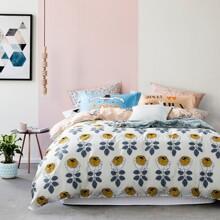 Комплект постельного белья Розовый сад (двуспальный-евро) (код товара: 45132)