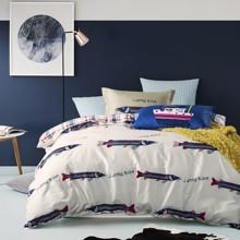 Комплект постельного белья Рыбки (двуспальный-евро) (код товара: 45122)