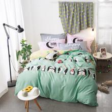 Комплект постельного белья Счастливые пингвины (двуспальный-евро) (код товара: 45123)