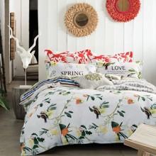 Комплект постельного белья Весенняя любовь (двуспальный-евро) (код товара: 45131)