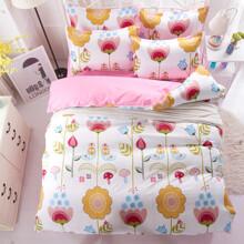Уценка (дефекты)! Комплект постельного белья Цветы (двуспальный-евро) (код товара: 45165)