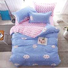 Уценка (дефекты)! Комплект постельного белья Дождь в лесу (двуспальный-евро) (код товара: 45182)