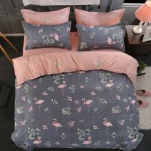 Уценка (дефекты)! Комплект постельного белья Фламинго (двуспальный-евро) (код товара: 45151)
