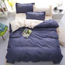 Уценка (дефекты)! Комплект постельного белья Голубой океан (двуспальный-евро) (код товара: 45184)