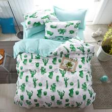 Уценка (дефекты)! Комплект постельного белья Кактус (двуспальный-евро) (код товара: 45172)
