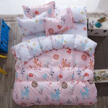 Уценка (дефекты)! Комплект постельного белья Счастливый лес (двуспальный-евро) (код товара: 45159)