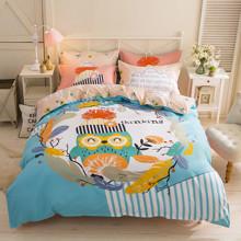 Уценка (дефекты)! Комплект постельного белья Задумчивая сова (двуспальный-евро) (код товара: 45195)