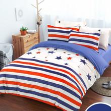Уцінка (дефекти)! Комплект постільної білизни Зоряний прапор (двоспальний-євро) (код товара: 45174)
