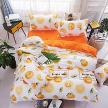 Комплект постельного белья Апельсин (двуспальный-евро) (код товара: 45280)