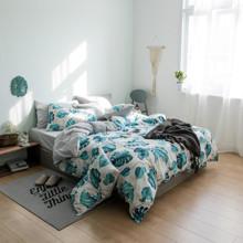 Комплект постельного белья Цветущая монстера (двуспальный-евро) (код товара: 45256)