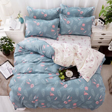 Комплект постельного белья Фламинго и папоротник (полуторный) (код товара: 45275)