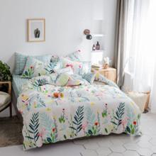 Комплект постельного белья Фламинго в траве (двуспальный-евро) оптом (код товара: 45254)