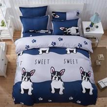 Комплект постельного белья Французский бульдог (полуторный) (код товара: 45287)