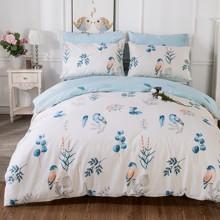 Комплект постельного белья Голубая птица (двуспальный-евро) (код товара: 45239)