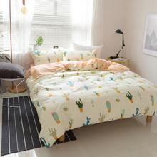 Комплект постельного белья Кактусы (полуторный) (код товара: 45259)