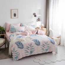 Комплект постельного белья Листья папоротника (двуспальный-евро) оптом (код товара: 45248)