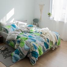 Комплект постельного белья Тропические листья (двуспальный-евро) (код товара: 45252)