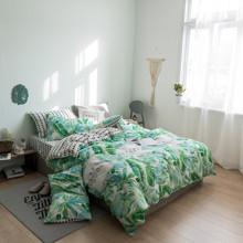 Комплект постільної білизни Тропічні рослини (двоспальний-євро) оптом (код товара: 45258)
