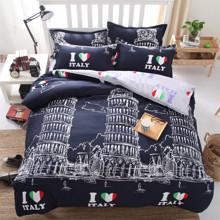 Комплект постільної білизни Я кохаю Італію (двоспальний-євро) оптом (код товара: 45284)