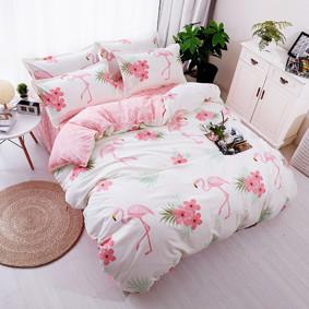 Уценка (дефекты)! Комплект постельного белья Большой фламинго (двуспальный-евро) (код товара: 45205): купить в Berni