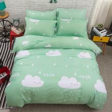 Уценка (дефекты)! Комплект постельного белья Дождь (двуспальный-евро) (код товара: 45225)