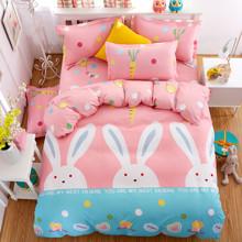Уценка (дефекты)! Комплект постельного белья Друг кролик (двуспальный-евро) (код товара: 45221)