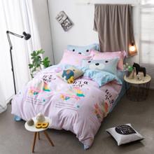 Уценка (дефекты)! Комплект постельного белья Единорог (двуспальный-евро) (код товара: 45208)