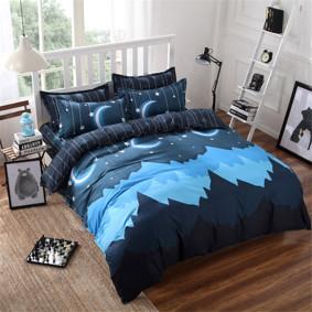 Уценка (дефекты)! Комплект постельного белья Горная ночь (двуспальный-евро) (код товара: 45223): купить в Berni