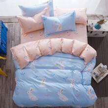 Уценка (дефекты)! Комплект постельного белья Кролик (двуспальный-евро) (код товара: 45218)