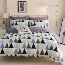 Уценка (дефекты)! Комплект постельного белья Треугольники (полуторный) (код товара: 45203)