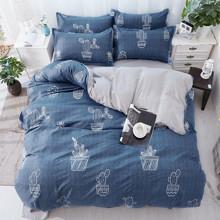 Комплект постельного белья Кактусы в горшках (двуспальный-евро) (код товара: 45300)