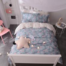 Комплект постельного белья Маленький розовый фламинго (полуторный) оптом (код товара: 45376)