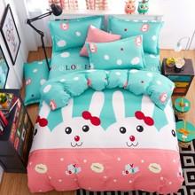Комплект постельного белья Мой влюбленный кролик (двуспальный-евро) (код товара: 45316)