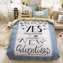 Комплект постельного белья Новые приключения (двуспальный-евро) (код товара: 45345)