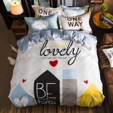 Комплект постельного белья Счастливый город (двуспальный-евро) оптом (код товара: 45347)