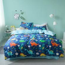 Комплект постельного белья Юрский парк (двуспальный-евро) оптом (код товара: 45349)