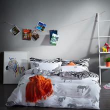 Комплект постельного белья Зебра (полуторный) (код товара: 45370)