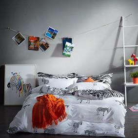 Комплект постельного белья Zebra (полуторный) (код товара: 45370): купить в Berni