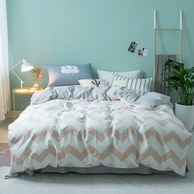 Комплект постельного белья Zigzag (двуспальный-евро) (код товара: 45353): купить в Berni