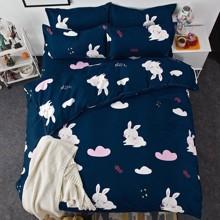 Комплект постільної білизни Солодкий кролик (двоспальний-євро) оптом (код товара: 45304)