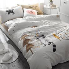 Уценка (без наволочек)! Комплект постельного белья Енот (полуторный) (код товара: 45383)