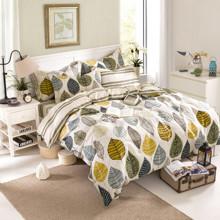 Уценка (дефекты)! Комплект постельного белья Листья (двуспальный-евро) (код товара: 45381)