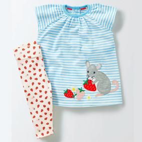 Костюм 2 в 1 для девочки Мышка и клубника (код товара: 45499): купить в Berni