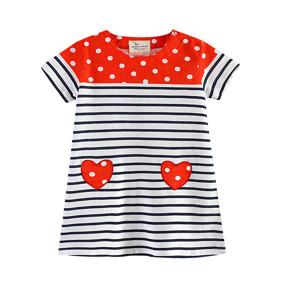 Платье для девочки Красное сердце (код товара: 45476): купить в Berni