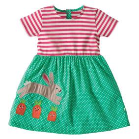 Платье для девочки Кролик и морковка (код товара: 45469): купить в Berni