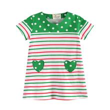Платье для девочки Зеленое сердце (код товара: 45475)